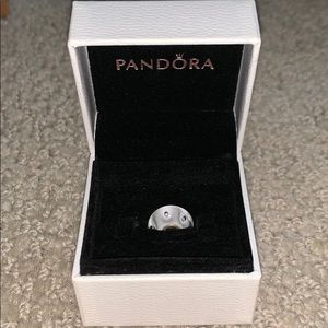 Pandora White with White Dots Charm